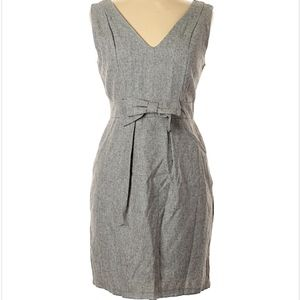 Monteau gray shift dress with bow detail